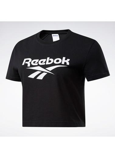 Reebok Kadın Siyah Classıcs Vector Kısa Üst Tişört FK2754 Siyah